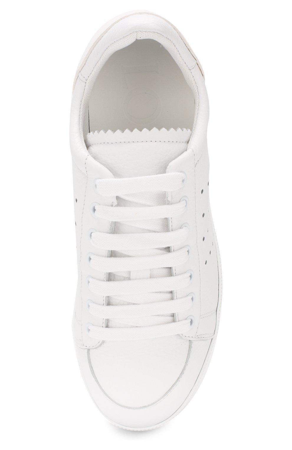 Кожаные кеды Loewe белые | Фото №5