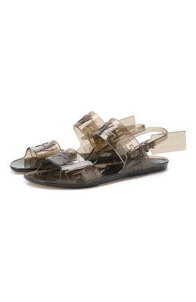 Резиновые сандалии Zip Tie Off-White черные | Фото №1