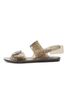 Резиновые сандалии Zip Tie Off-White черные | Фото №3