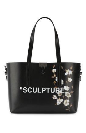 Сумка-тоут Sculpture Off-White черная цвета | Фото №1