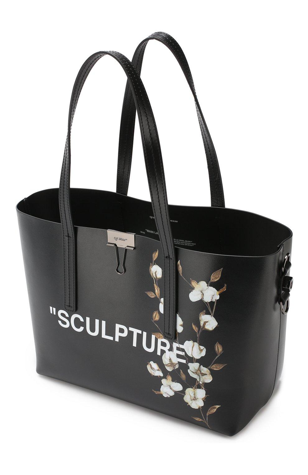 Сумка-тоут Sculpture Off-White черная цвета | Фото №4