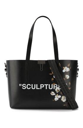Сумка-тоут Sculpture Off-White черная цвета | Фото №6