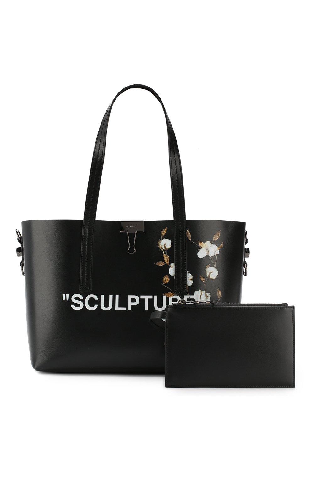 Сумка-тоут Sculpture Off-White черная цвета | Фото №7