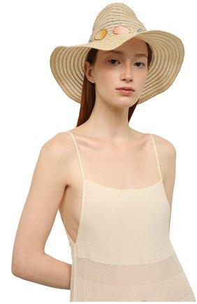 Женская плетеная шляпа INVERNI бежевого цвета, арт. 4524CC | Фото 2