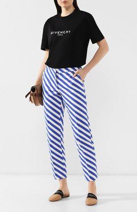 Кожаные сабо Givenchy бежевые | Фото №2