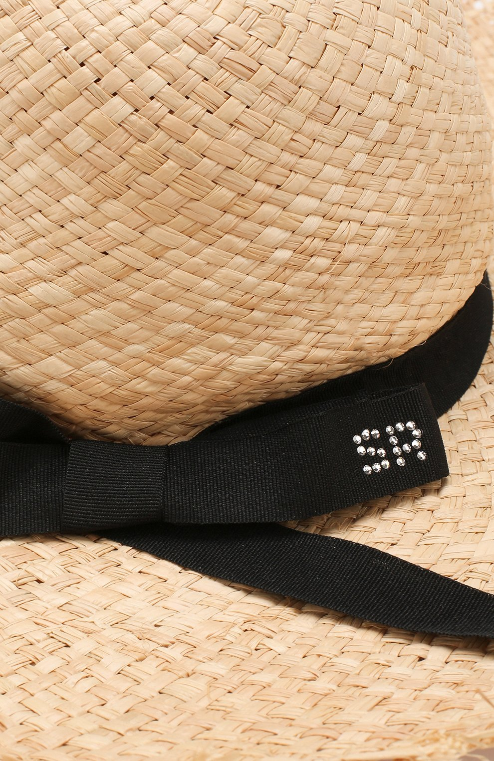 Соломенная шляпа Sonia Rykiel Enfant бежевого цвета | Фото №3