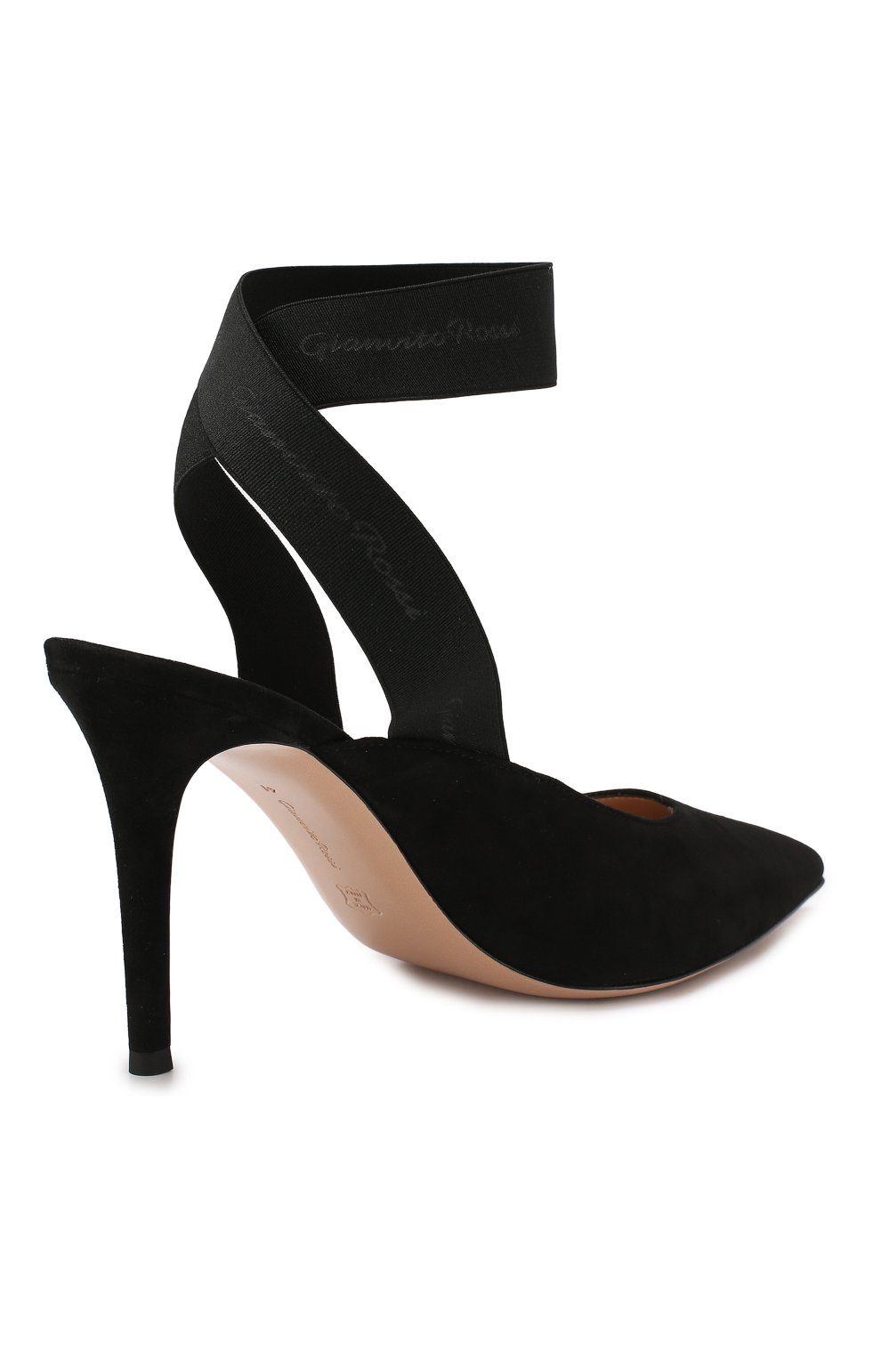 Замшевые туфли Delila 85 Gianvito Rossi черные   Фото №4