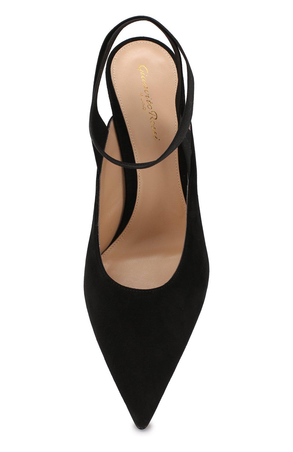 Замшевые туфли Delila 85 Gianvito Rossi черные   Фото №5