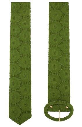 Женский хлопковый ремень CULT GAIA зеленого цвета, арт. 60012EY LEA   Фото 2 (Материал: Текстиль, Хлопок; Статус проверки: Проверена категория)