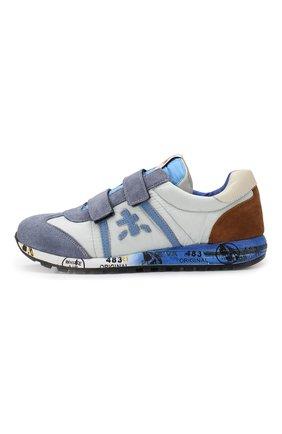 Детские комбинированные кроссовки PREMIATA WILL BE голубого цвета, арт. LUCY V/1119/JUN   Фото 2