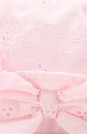 Хлопковая панама Catya розового цвета | Фото №3