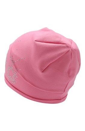 Детского хлопковая шапка CATYA розового цвета, арт. 913087 | Фото 2