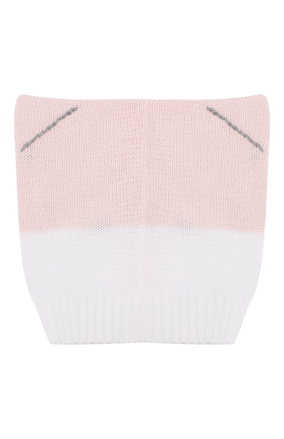 Хлопковая шапка Catya розового цвета | Фото №2
