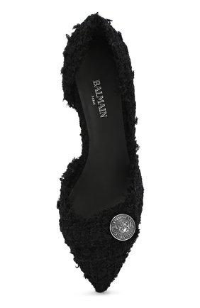 Твидовые туфли Julie Balmain черные | Фото №5