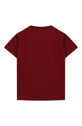 Детский хлопковая футболка DOLCE & GABBANA бордового цвета, арт. L1JT7W/G7REY | Фото 2