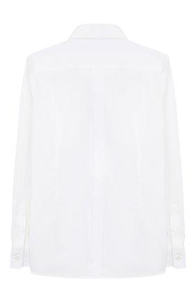 Детская хлопковая рубашка DOLCE & GABBANA белого цвета, арт. L42S56/FU5GK/8-14 | Фото 2 (Рукава: Длинные; Материал внешний: Хлопок; Статус проверки: Проверена категория; Принт: Без принта; Случай: Формальный; Стили: Классический; Ростовка одежда: 10 - 11 лет | 140 - 146см, 12 лет | 152 см, 8 лет | 128 см)