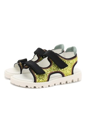 Текстильные сандалии с глиттером | Фото №1
