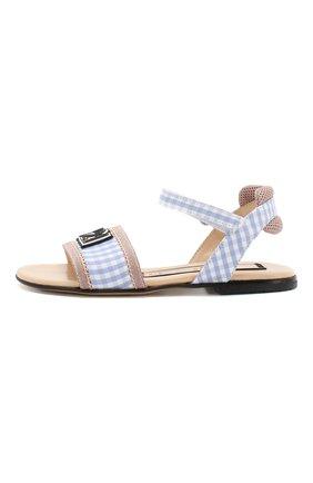 Детские текстильные сандалии  N21 голубого цвета, арт. 59533/28-35 | Фото 2