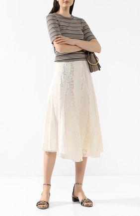 Текстильные босоножки | Фото №2