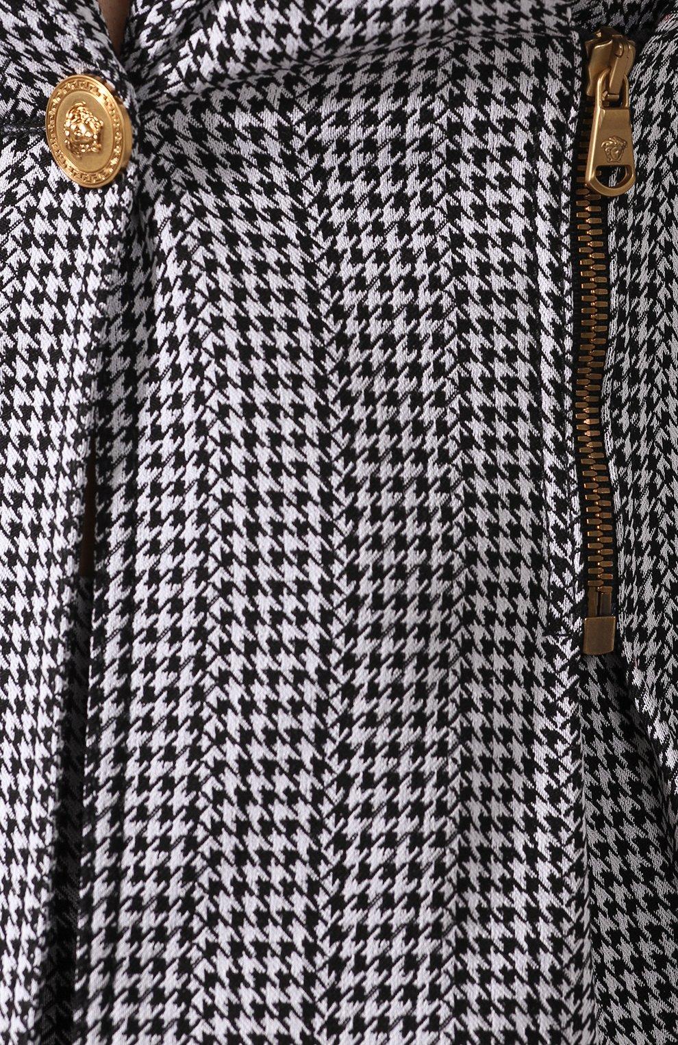 Приталенный жакет Versace черно-белый   Фото №5