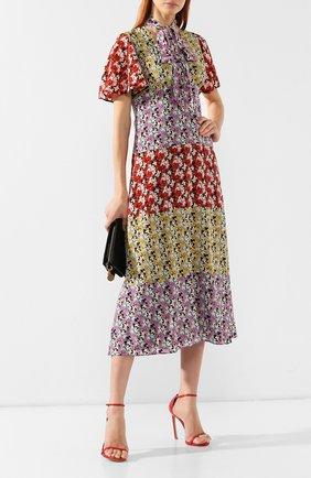 Шелковое платье Valentino разноцветное   Фото №2