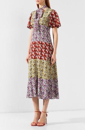 Шелковое платье Valentino разноцветное   Фото №3