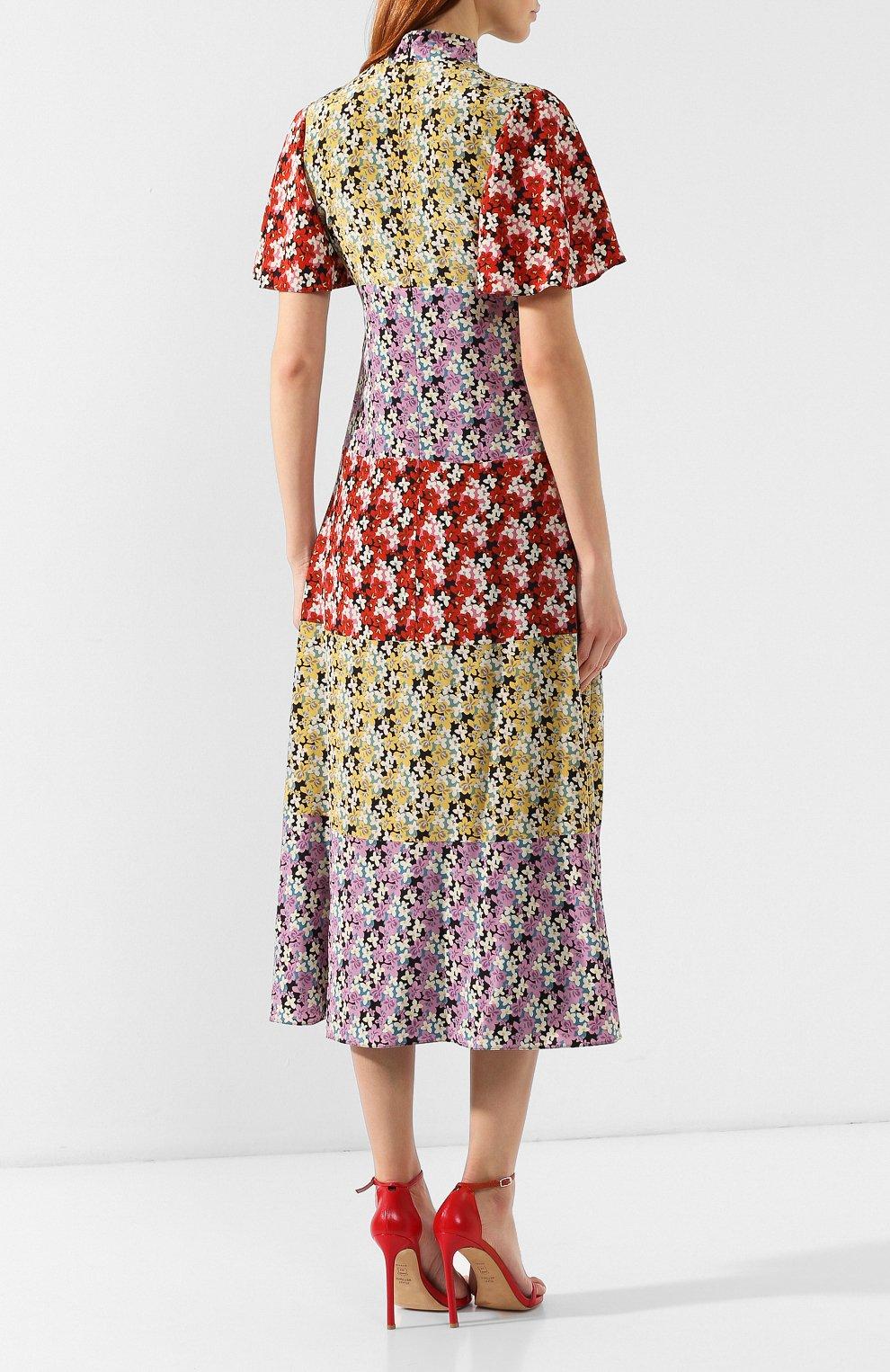 Шелковое платье Valentino разноцветное   Фото №4