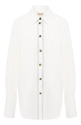 Рубашка с контрастными пуговицами | Фото №1