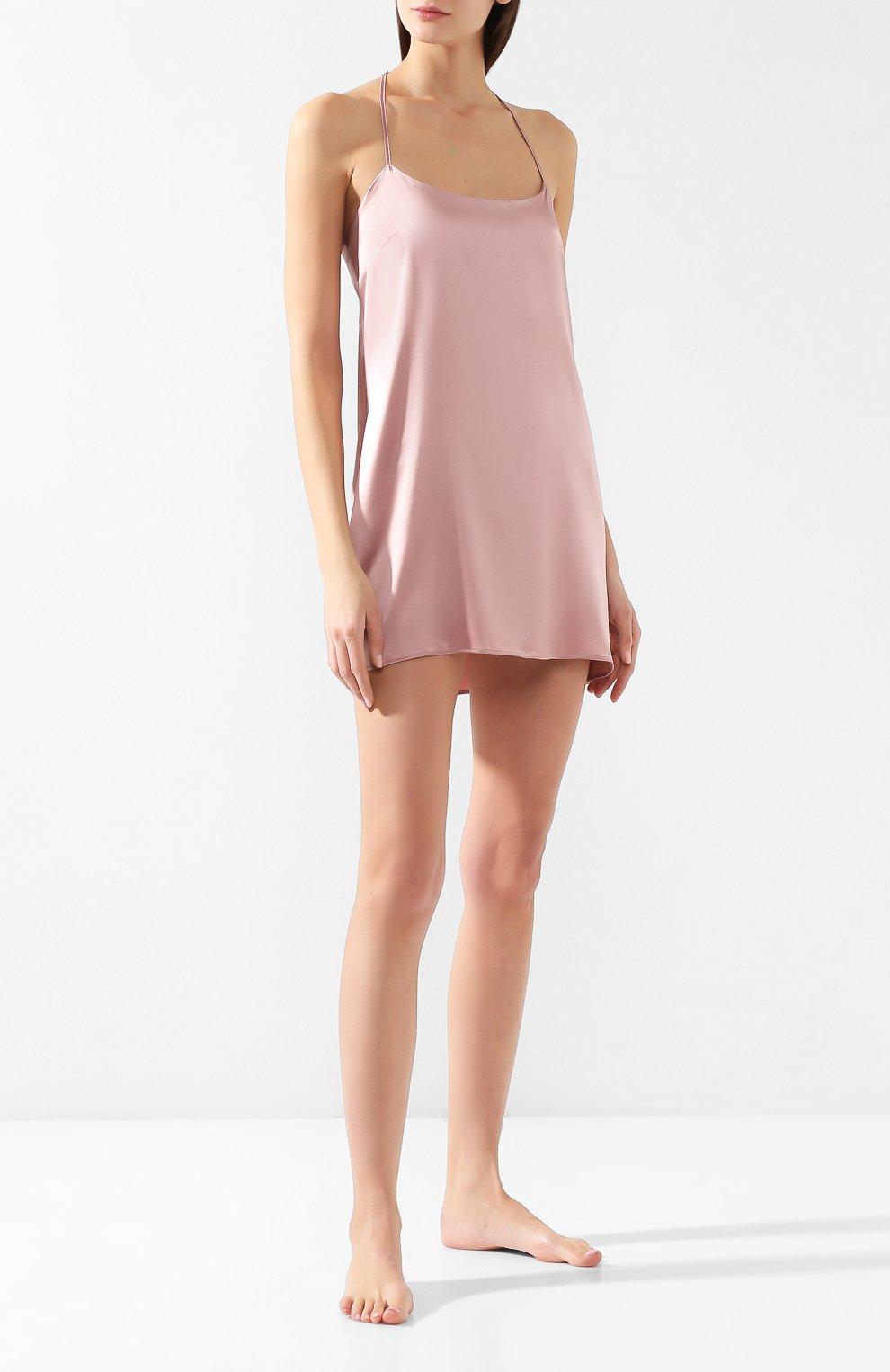 Шелковая сорочка Fleur of England розовая | Фото №2