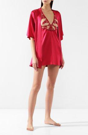 Шелковая сорочка Fleur of England красная   Фото №2