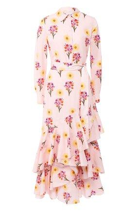 Женское хлопковое платье BORGO DE NOR светло-розового цвета, арт. AUR0RA/SUN B0UQUET | Фото 1