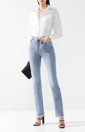 Женские джинсы прямого кроя ALEXANDRE VAUTHIER голубого цвета, арт. 191PA812C 0318 | Фото 2