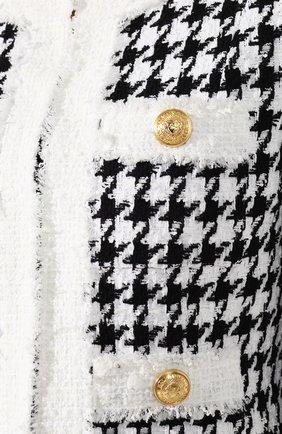 Буклированный жакет Balmain черно-белый | Фото №5