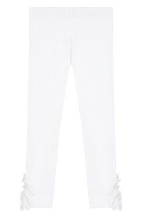 Детского хлопковые брюки SIMONETTA белого цвета, арт. 1K0230/KA060/10-14+ | Фото 2