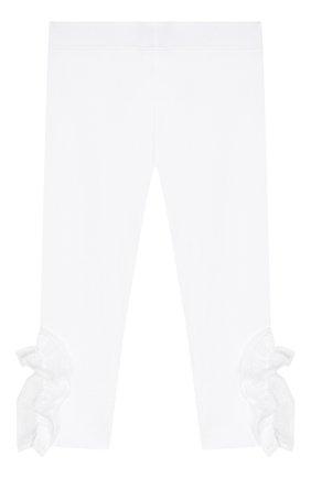Детского хлопковые брюки SIMONETTA белого цвета, арт. 1K0230/KA060/1-4 | Фото 1