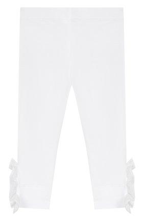 Детского хлопковые брюки SIMONETTA белого цвета, арт. 1K0230/KA060/1-4 | Фото 2