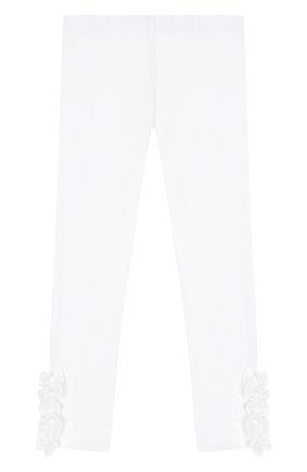 Детского хлопковые брюки SIMONETTA белого цвета, арт. 1K0230/KA060/5-8 | Фото 1