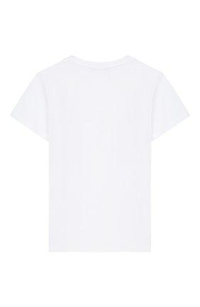 Детская хлопковая футболка BALMAIN белого цвета, арт. 6K8611/KX080/4-10 | Фото 2