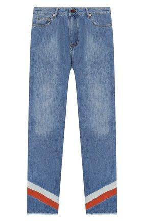 Детские джинсы прямого кроя INDEE голубого цвета, арт. ETHI0PIA/DENIM/12Y-16Y | Фото 1