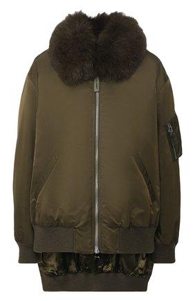 Куртка с меховым воротником | Фото №1