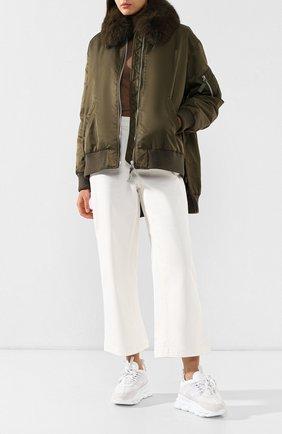 Куртка с меховым воротником | Фото №2