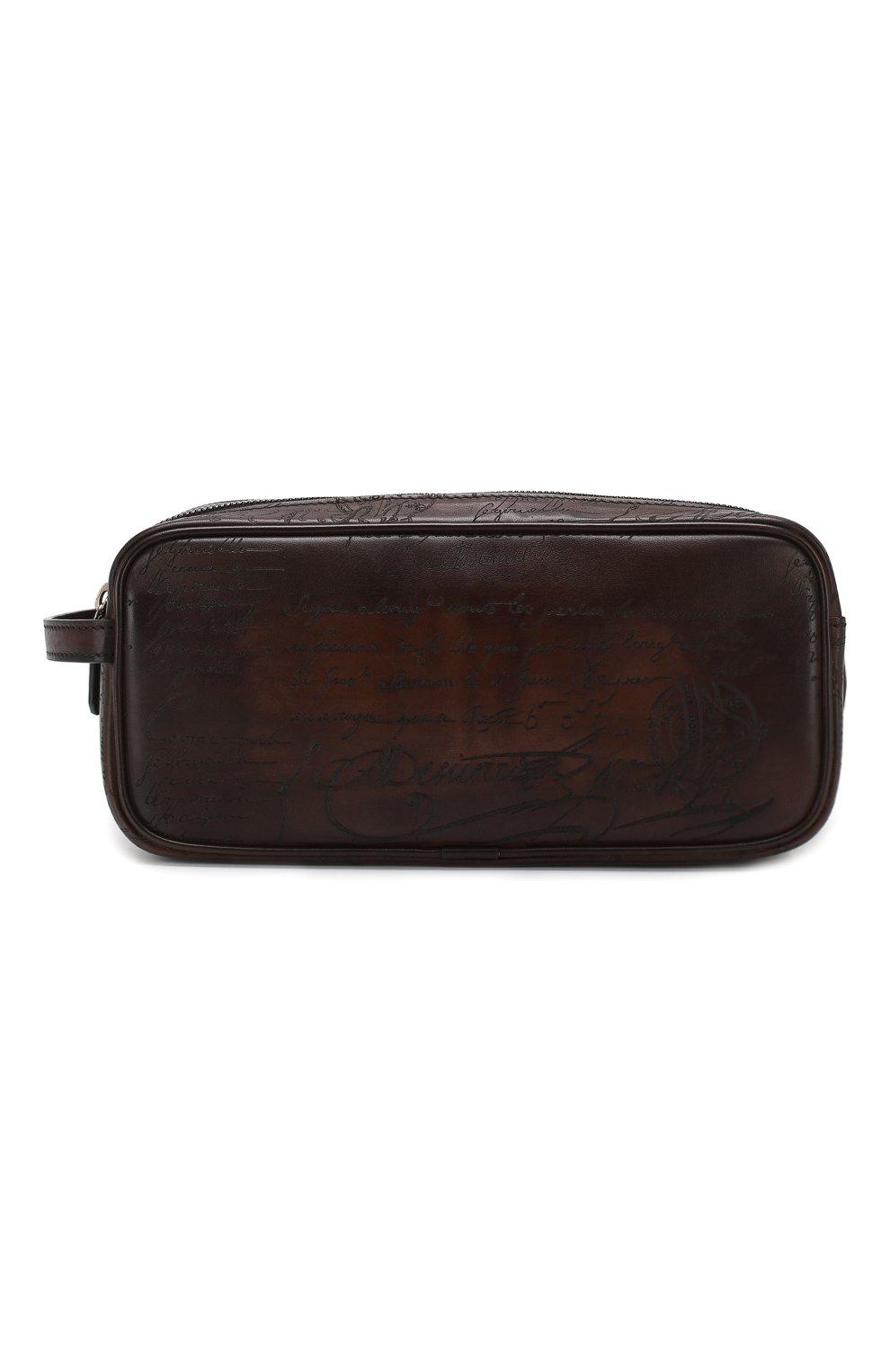 Мужской кожаный несессер BERLUTI темно-коричневого цвета, арт. N125311   Фото 1