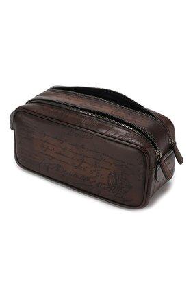 Мужской кожаный несессер BERLUTI темно-коричневого цвета, арт. N125311   Фото 3
