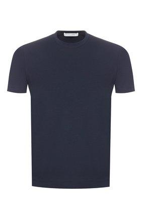 Мужская хлопковая футболка CRUCIANI темно-синего цвета, арт. CUJ0SB.G30 | Фото 1
