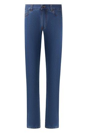 Мужские джинсы прямого кроя CANALI синего цвета, арт. 91700R/PD00019 | Фото 1
