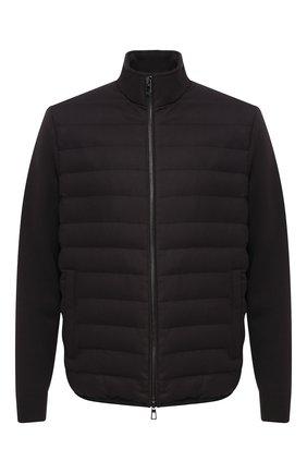 Шерстяная куртка Cape York с замшевой отделкой | Фото №1