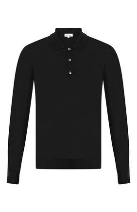 Мужское поло из смеси шерсти и кашемира BRIONI черного цвета, арт. UMR30R/0ZK12 | Фото 1