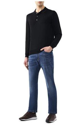 Мужское поло из смеси шерсти и кашемира BRIONI черного цвета, арт. UMR30R/0ZK12 | Фото 2