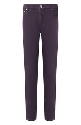 Мужские джинсы прямого кроя BRUNELLO CUCINELLI фиолетового цвета, арт. M0Y16J2010 | Фото 1