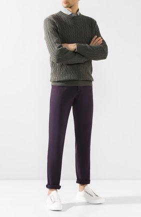 Мужские джинсы прямого кроя BRUNELLO CUCINELLI фиолетового цвета, арт. M0Y16J2010 | Фото 2